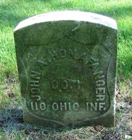 HONAFANGER, JOHN A. - Clark County, Ohio | JOHN A. HONAFANGER - Ohio Gravestone Photos