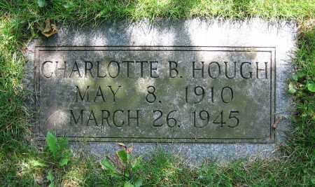 HOUGH, CHARLOTTE B. - Clark County, Ohio | CHARLOTTE B. HOUGH - Ohio Gravestone Photos