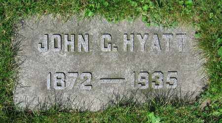 HYATT, JOHN G. - Clark County, Ohio   JOHN G. HYATT - Ohio Gravestone Photos