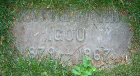 ROHR IGOU, MATTIE - Clark County, Ohio | MATTIE ROHR IGOU - Ohio Gravestone Photos