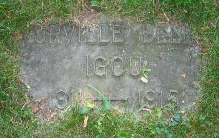IGOU, ORVILLE BELL - Clark County, Ohio | ORVILLE BELL IGOU - Ohio Gravestone Photos
