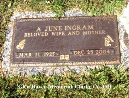 "BOWLES INGRAM, ADRIAN ""JUNE"" - Clark County, Ohio | ADRIAN ""JUNE"" BOWLES INGRAM - Ohio Gravestone Photos"
