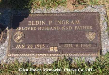 "INGRAM, ELDIN ""DICK"" - Clark County, Ohio | ELDIN ""DICK"" INGRAM - Ohio Gravestone Photos"