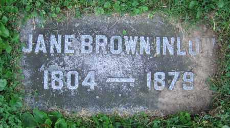 BROWN INLOW, JANE - Clark County, Ohio | JANE BROWN INLOW - Ohio Gravestone Photos