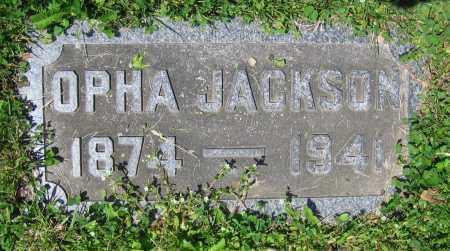 JACKSON, OPHA - Clark County, Ohio   OPHA JACKSON - Ohio Gravestone Photos