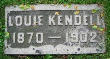 KENDELL, LOUIE - Clark County, Ohio | LOUIE KENDELL - Ohio Gravestone Photos