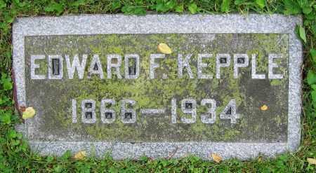 KEPPLE, EDWARD F. - Clark County, Ohio   EDWARD F. KEPPLE - Ohio Gravestone Photos