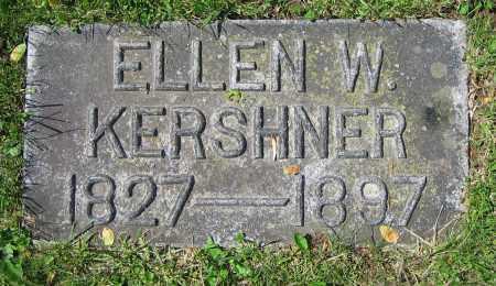 KERSHNER, ELLEN W. - Clark County, Ohio | ELLEN W. KERSHNER - Ohio Gravestone Photos