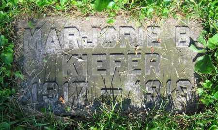 KIEFER, MARJORIE B. - Clark County, Ohio   MARJORIE B. KIEFER - Ohio Gravestone Photos