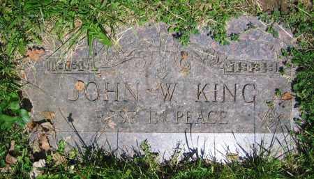 KING, JOHN W. - Clark County, Ohio   JOHN W. KING - Ohio Gravestone Photos