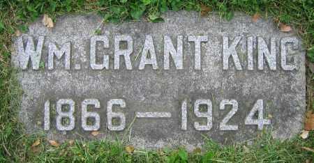 KING, WILLIAM GRANT - Clark County, Ohio | WILLIAM GRANT KING - Ohio Gravestone Photos