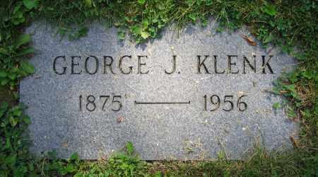 KLENK, GEORGE J. - Clark County, Ohio   GEORGE J. KLENK - Ohio Gravestone Photos