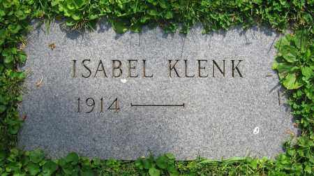 KLENK, ISABEL - Clark County, Ohio | ISABEL KLENK - Ohio Gravestone Photos
