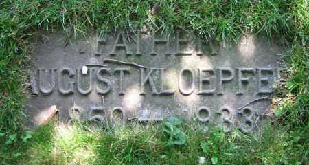 KLOEPFER, AUGUST - Clark County, Ohio | AUGUST KLOEPFER - Ohio Gravestone Photos