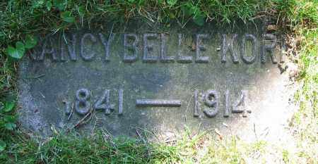 KORN, NANCY BELLE - Clark County, Ohio | NANCY BELLE KORN - Ohio Gravestone Photos
