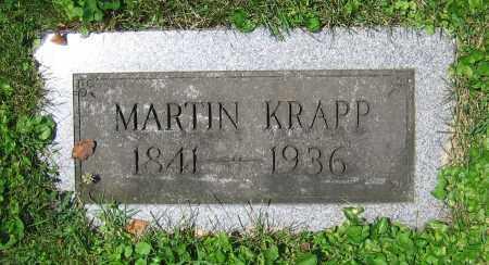 KRAPP, MARTIN - Clark County, Ohio   MARTIN KRAPP - Ohio Gravestone Photos