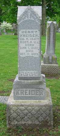 KREIDER, HENRY - Clark County, Ohio | HENRY KREIDER - Ohio Gravestone Photos