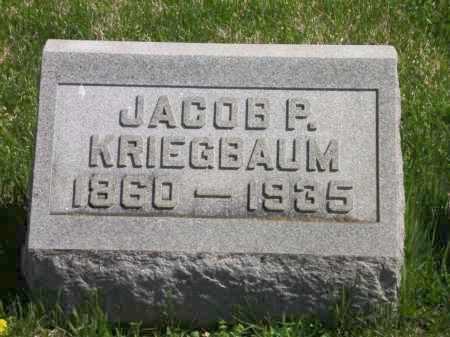KRIEGBAUM, JACOB P. - Clark County, Ohio | JACOB P. KRIEGBAUM - Ohio Gravestone Photos