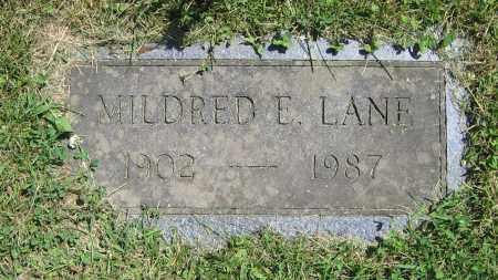 LANE, MILDRED E. - Clark County, Ohio | MILDRED E. LANE - Ohio Gravestone Photos