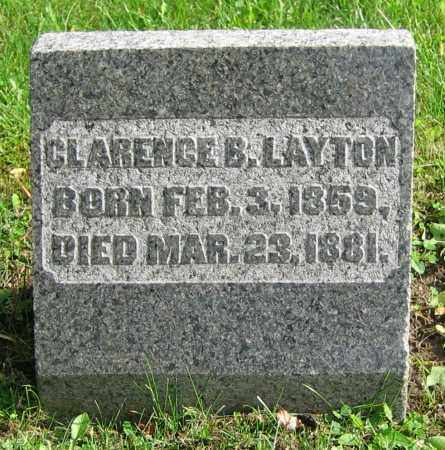 LAYTON, CLARENCE B. - Clark County, Ohio   CLARENCE B. LAYTON - Ohio Gravestone Photos
