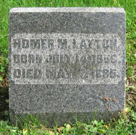 LAYTON, HOMER M. - Clark County, Ohio | HOMER M. LAYTON - Ohio Gravestone Photos