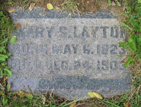 LAYTON, MARY S. - Clark County, Ohio   MARY S. LAYTON - Ohio Gravestone Photos
