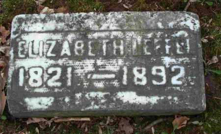 LEFFEL, ELIZABETH - Clark County, Ohio   ELIZABETH LEFFEL - Ohio Gravestone Photos