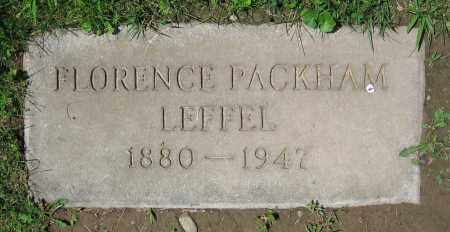 PACKHAM LEFFEL, FLORENCE - Clark County, Ohio | FLORENCE PACKHAM LEFFEL - Ohio Gravestone Photos