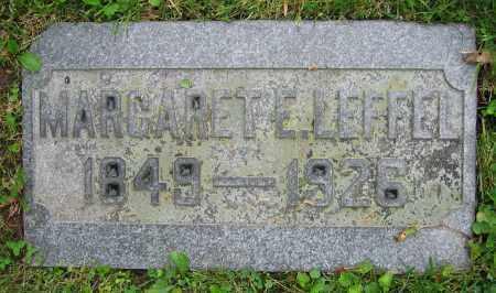 LEFFEL, MARGARET E. - Clark County, Ohio | MARGARET E. LEFFEL - Ohio Gravestone Photos