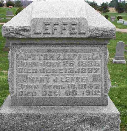 LEFFEL, PETER S. - Clark County, Ohio   PETER S. LEFFEL - Ohio Gravestone Photos