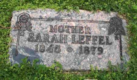 LEFFEL, SARAH - Clark County, Ohio | SARAH LEFFEL - Ohio Gravestone Photos