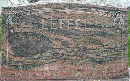 LEFFEL, WILLIAM D - Clark County, Ohio | WILLIAM D LEFFEL - Ohio Gravestone Photos