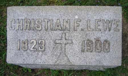 LEWE, CHRISTIAN F. - Clark County, Ohio | CHRISTIAN F. LEWE - Ohio Gravestone Photos