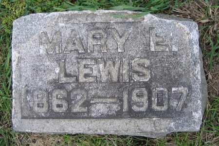 LEWIS, MARY E. - Clark County, Ohio   MARY E. LEWIS - Ohio Gravestone Photos