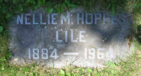 HOPPES LILE, NELLIE M. - Clark County, Ohio | NELLIE M. HOPPES LILE - Ohio Gravestone Photos