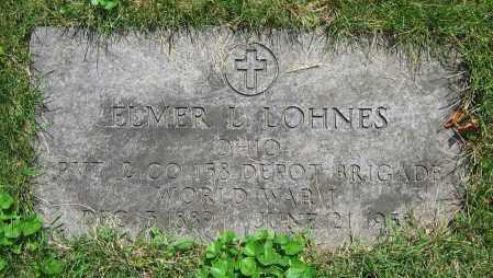 LOHNES, ELMER L. - Clark County, Ohio   ELMER L. LOHNES - Ohio Gravestone Photos