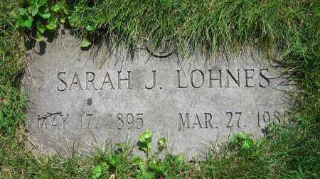 LOHNES, SARAH J. - Clark County, Ohio   SARAH J. LOHNES - Ohio Gravestone Photos