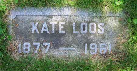 LOOS, KATE - Clark County, Ohio | KATE LOOS - Ohio Gravestone Photos
