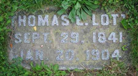 LOTT, THOMAS E. - Clark County, Ohio | THOMAS E. LOTT - Ohio Gravestone Photos
