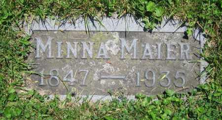 MAIER, MINNA - Clark County, Ohio   MINNA MAIER - Ohio Gravestone Photos