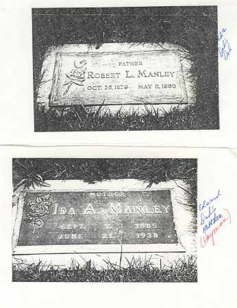 IDA ANN, MANLEY - Clark County, Ohio | MANLEY IDA ANN - Ohio Gravestone Photos