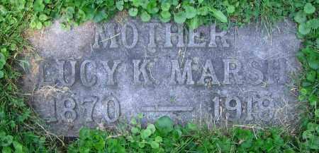 MARSH, LUCY K. - Clark County, Ohio | LUCY K. MARSH - Ohio Gravestone Photos