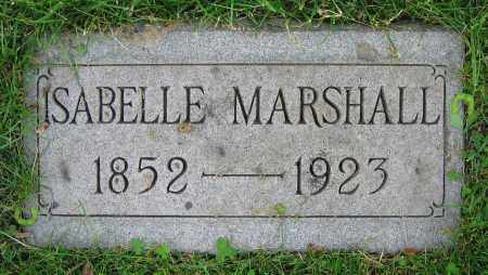 MARSHALL, ISABELLE - Clark County, Ohio   ISABELLE MARSHALL - Ohio Gravestone Photos