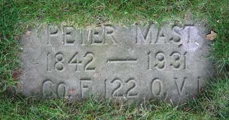 MAST, PETER - Clark County, Ohio | PETER MAST - Ohio Gravestone Photos