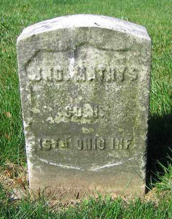 MATHYS, JNO. - Clark County, Ohio   JNO. MATHYS - Ohio Gravestone Photos