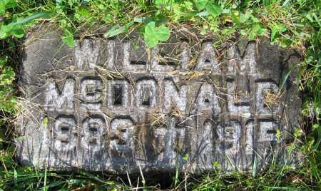 MCDONALD, WILLIAM - Clark County, Ohio | WILLIAM MCDONALD - Ohio Gravestone Photos