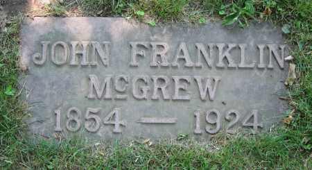 MCGREW, JOHN FRANKLIN - Clark County, Ohio | JOHN FRANKLIN MCGREW - Ohio Gravestone Photos