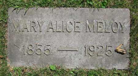 MELOY, MARY ALICE - Clark County, Ohio   MARY ALICE MELOY - Ohio Gravestone Photos