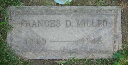 MILLER, FRANCES D. - Clark County, Ohio | FRANCES D. MILLER - Ohio Gravestone Photos