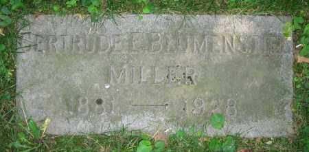 BLUMENSTIEL MILLER, GERTRUDE E. - Clark County, Ohio | GERTRUDE E. BLUMENSTIEL MILLER - Ohio Gravestone Photos